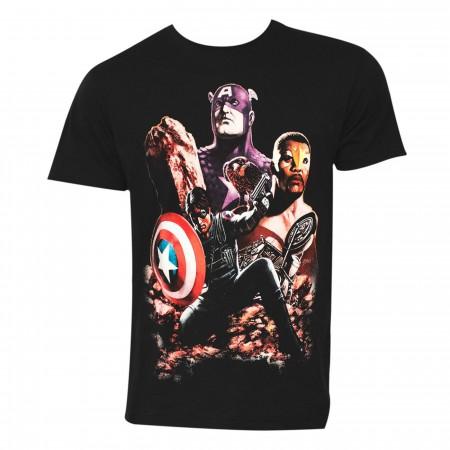 Captain America Death of the Dream Men's T-Shirt