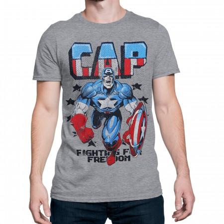 Captain America Freedom Fighter Men's T-Shirt
