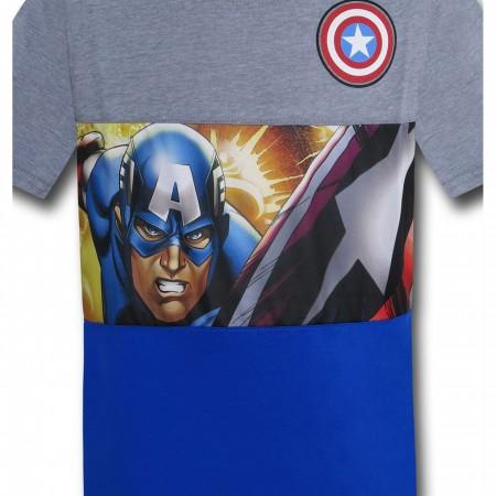 Captain America Kids Action Hero Cut & Sew T-Shirt