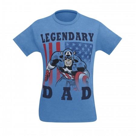 Captain America Legendary Dad Men's T-Shirt