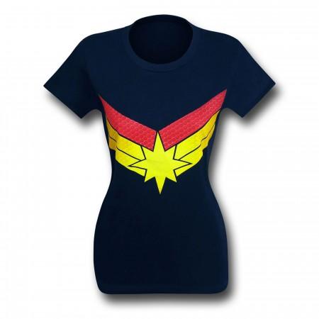 Captain Marvel Symbol Women's Fitted T-Shirt