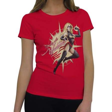 Ms Marvel Fly Away Warbird Women's T-Shirt