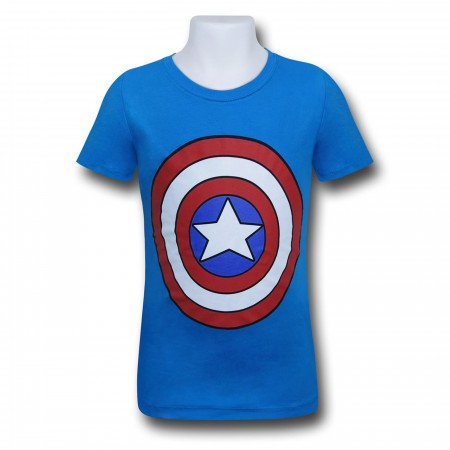 Captain America Shield Girls T-Shirt