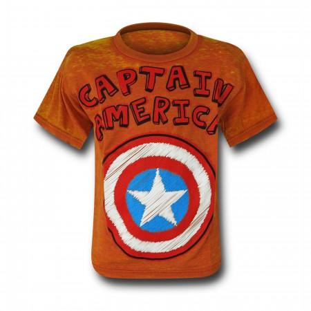 Captain America Shield Burnout Kids T-Shirt