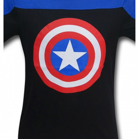 Captain America Shield Two-Tone Men's T-Shirt