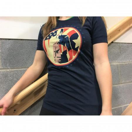 Captain America Steve Rogers Split Women's T-Shirt