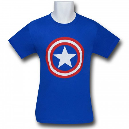 Captain America Symbol Royal Blue T-Shirt