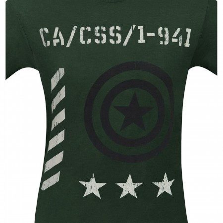Captain America Vintage Military Men's T-Shirt