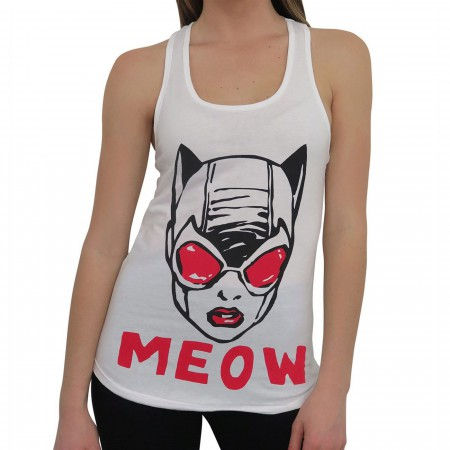 Catwoman Meow Women's Keyhole Tank Top