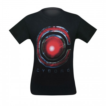 Cyborg Symbol Justice League Movie Men's T-Shirt