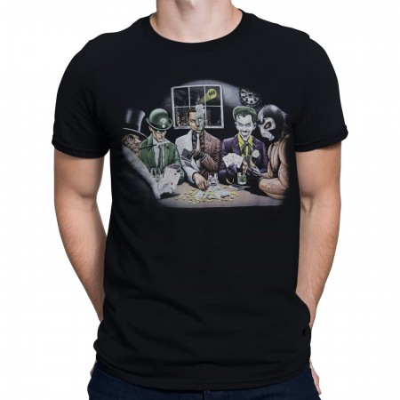 DC Villains Poker Night Men's T-Shirt