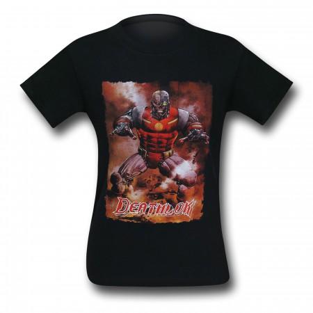 Deathlok Action Portrait Black T-Shirt