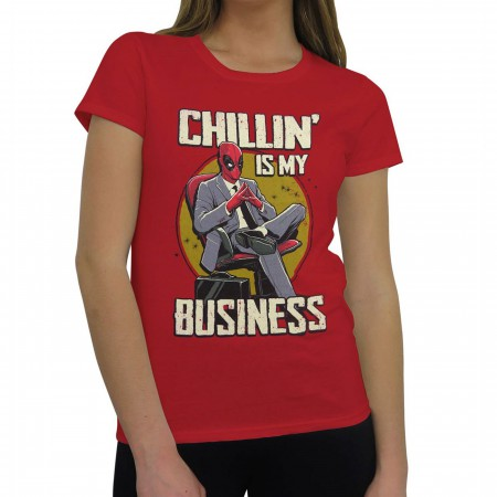 Deadpool Chillin' Business Women's T-Shirt