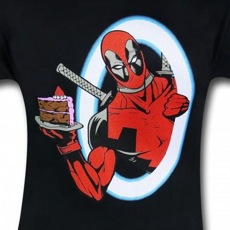 Deadpool Portal Piece of Cake 30 Single T-Shirt