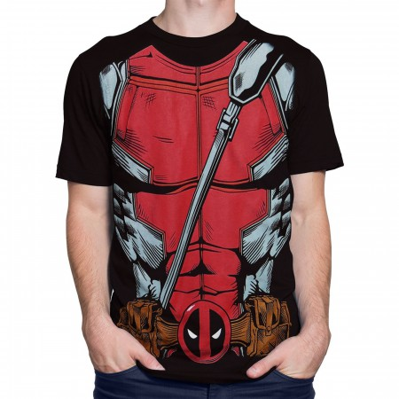 Deadpool Suit-Up Men's Costume T-Shirt