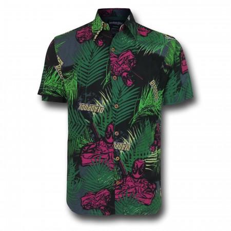 Deadpool Tropical Woven Button Down Shirt