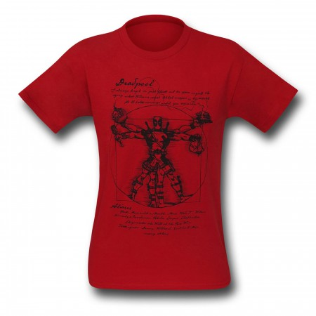 Deadpool Vitruvian Red T-Shirt