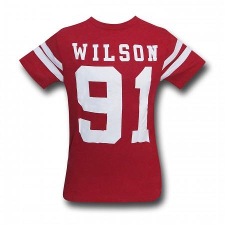 Deadpool Wilson Men's Varsity T-Shirt