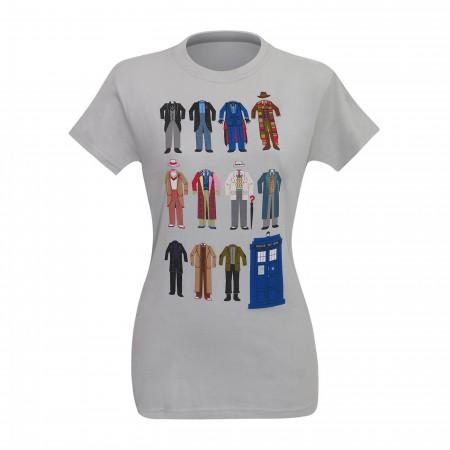 Dr. Who Minimalist Doctors Women's T-Shirt
