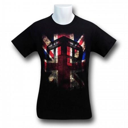 Doctor Who Union Jack Tardis T-Shirt