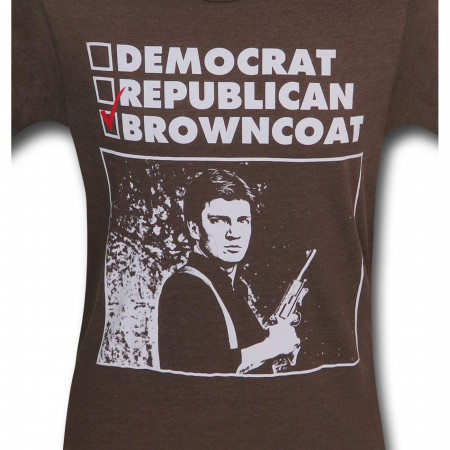 Firefly Democrat Republican Browncoat Men's T-Shirt