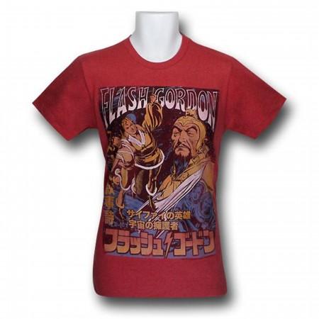 Flash Gordon Distressed Kanji 30 Single T-Shirt