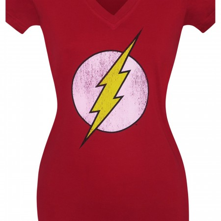 Flash Distressed Factory Second Women's V-Neck T-Shirt