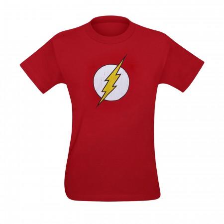 Flash Distressed Small Symbol Kids T-Shirt