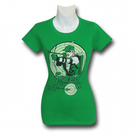 Green Arrow Bullseye Kelly Green Women's T-Shirt