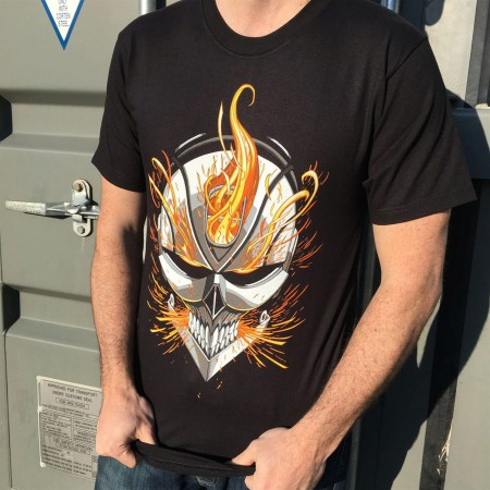 Ghost Rider Flaming Helmet Men's T-Shirt