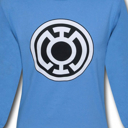 Green Lantern Blue Lantern Symbol Long Sleeve T-Shirt