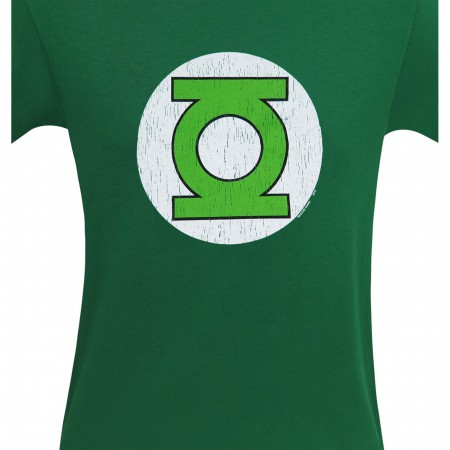 Green Lantern Symbol Distressed T-Shirt