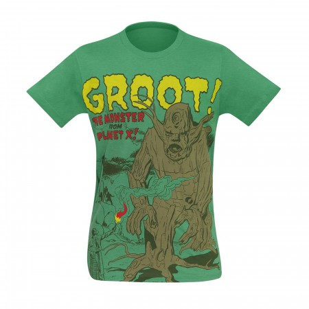 GOTG Groot The Monster From Planet X Men's T-Shirt