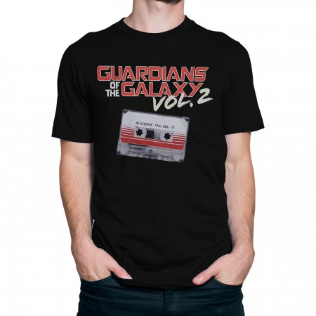 GOTG Vol. 2 Movie Logo and Mix Tape Men's T-Shirt