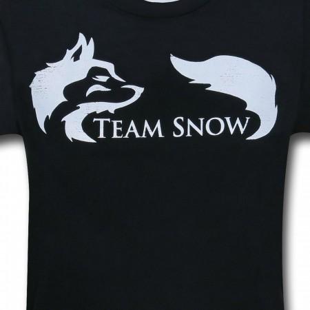 Team Snow on Black Women's T-Shirt