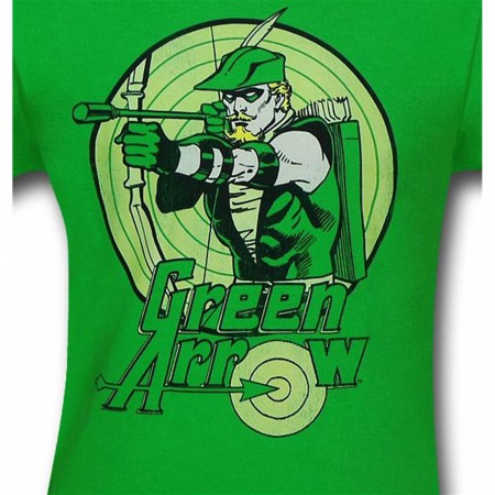 Green Arrow Bullseye Kelly Green T-Shirt