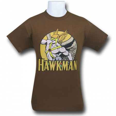 Hawkman Circle Brown T-Shirt