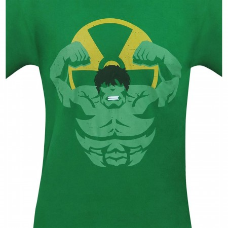 Hulk and Radiation Symbol Minimalist Men's T-Shirt