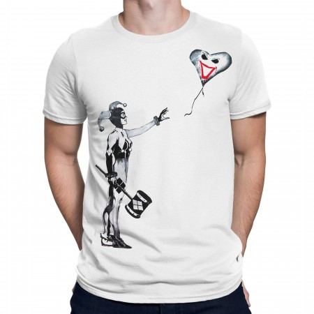 Harley Quinn Balloon Stencil Men's T-Shirt