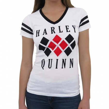 Harley Quinn Diamond Women's Varsity V-Neck T-Shirt