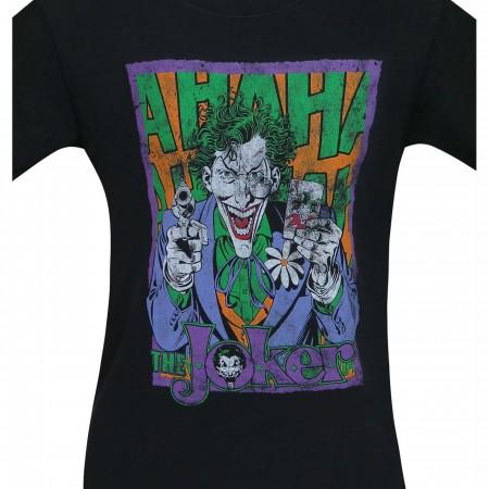 Joker Card and Gun HA HA Men's T-Shirt