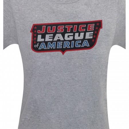 Justice League of America Classic Logo Men's T-Shirt