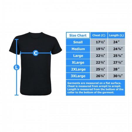 DC Justice League Mount Justice Men's T-Shirt