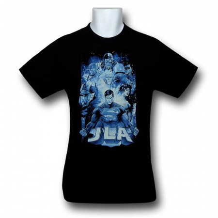 JLA Power Center Kids Black T-Shirt