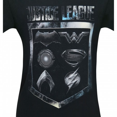 Justice League Movie Badge and Icons Men's T-Shirt