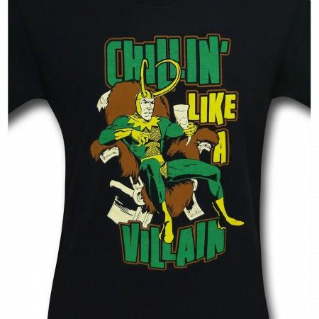 Loki Chillin' Like A Villain 30 Single T-Shirt