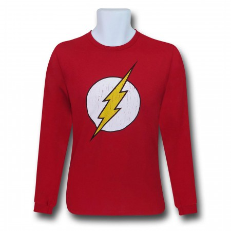Flash Distressed Symbol Long Sleeve T-Shirt