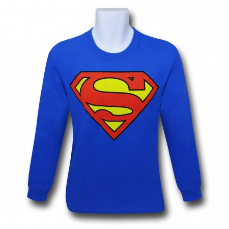 Superman Symbol Long-Sleeve Shirt Royal Blue