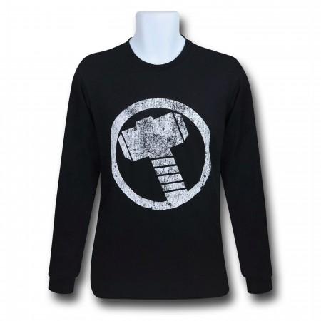 Thor Hammer Symbol Men's Long Sleeve T-Shirt