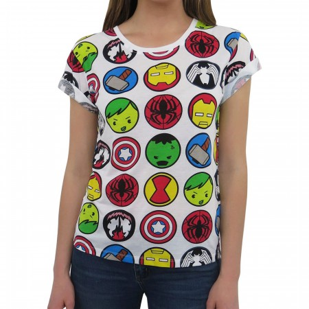 Marvel Iconic Heroes Women's T-Shirt